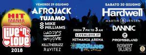 Live 'N' Love – Hardwell – Afrojack and More VASTO 2018