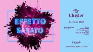 Cluster Roma Sabato 31 Marzo 2018 – Clusterie