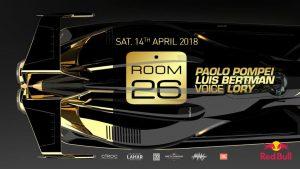 Room 26 Roma Sabato 14 Aprile 2018 – Saturday Night
