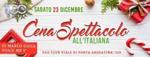 Too Club Roma Sabato 23 Dicembre 2017 – Caprichosa