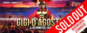Piper Club – Venerdì 16 marzo | Gigi D'Agostino – Il ritorno del Capitano