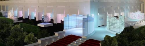 La discoteca 900 Lab di Roma dall'alto.