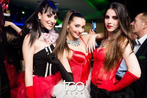 La discoteca Too Club ospita tanti ragazzi e stupende ragazze. Qui in foto in posa tre splendide ragazze romane.
