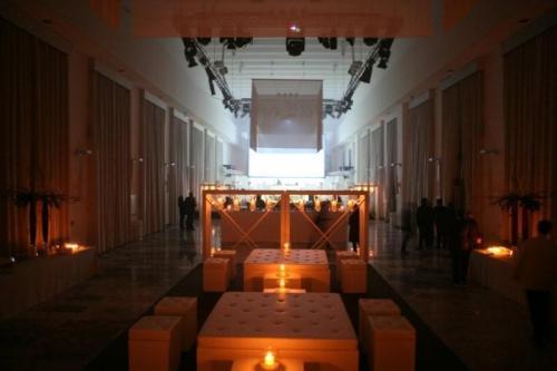 Una ricchissima sala dello Spazio 900 di Roma in zona Eur.