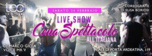 Too Club Roma Sabato 24 Febbraio 2018 – Cena all'Italiana